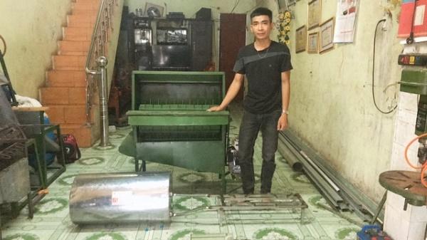 Chàng trai sáng tạo với máy nông nghiệp